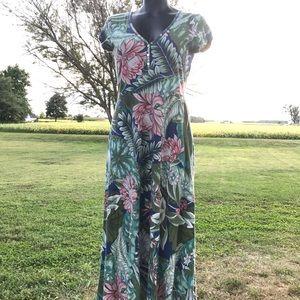 Chaps Maxi Dress Floral medium